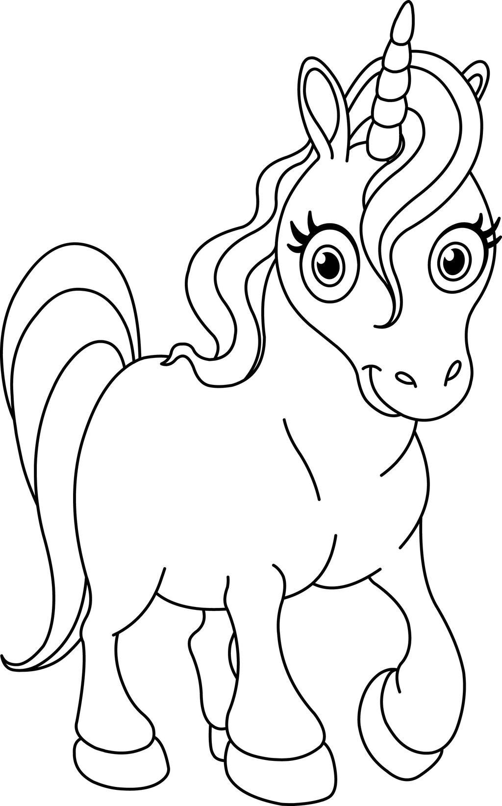 Free Unicorn Coloring Pages Pay tention Coloring Book printable