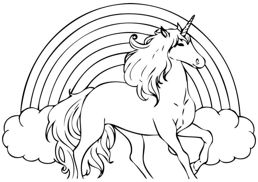 Free Unicorn Coloring Pages Sheet Seatle Linear printable