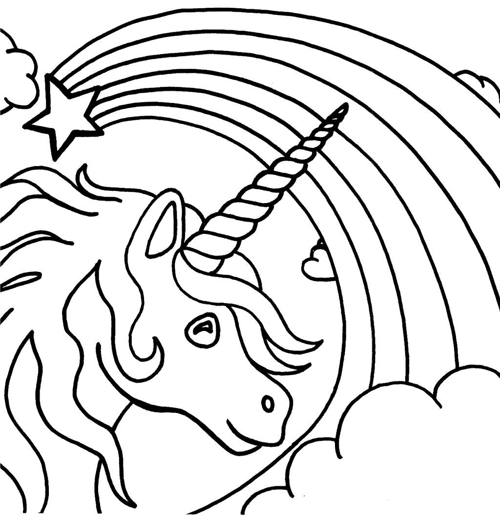 Free Unicorn Coloring Pages Sheets Kids for Boys printable