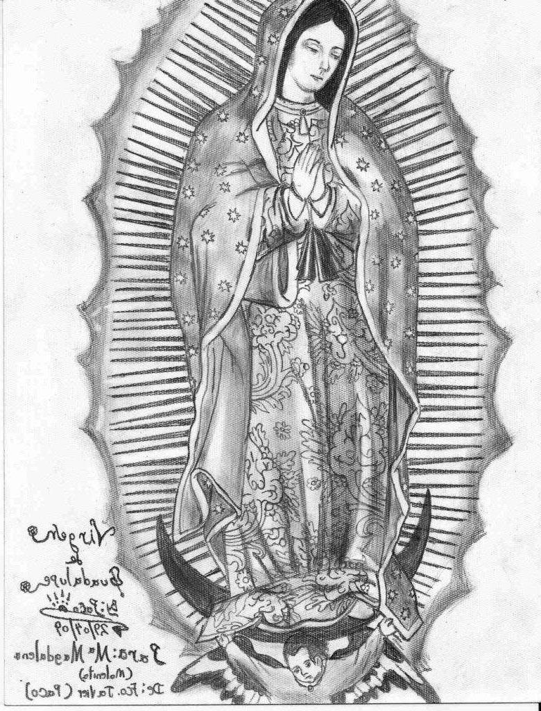 Virgen De Guadalupe Coloring Pages La Entrancing Pictures Free