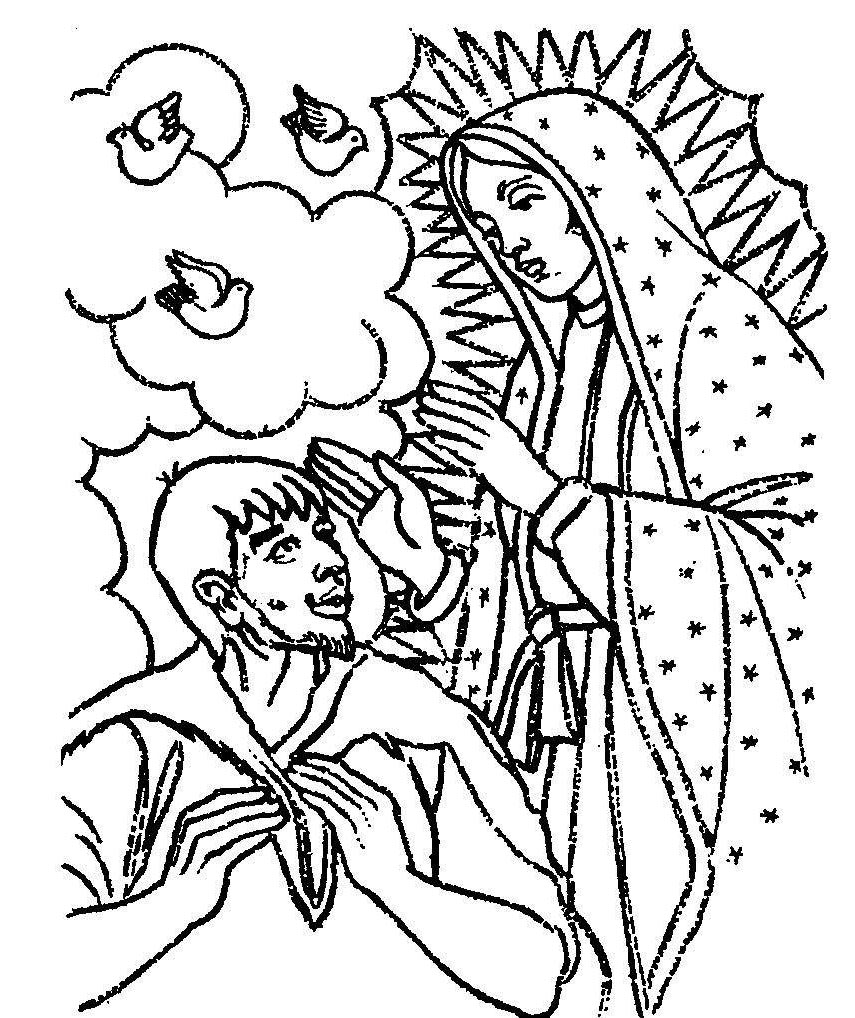 Virgen De Guadalupe Coloring Pages La Home Drawings Free Printable