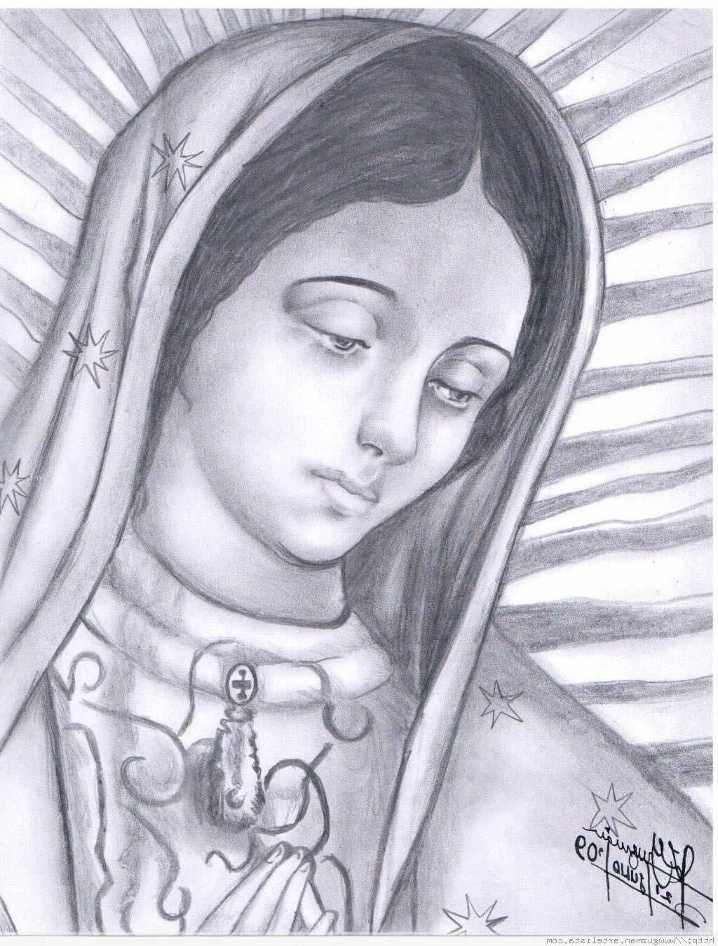 Virgen De Guadalupe Coloring Pages Unbelievable La Sketch Free