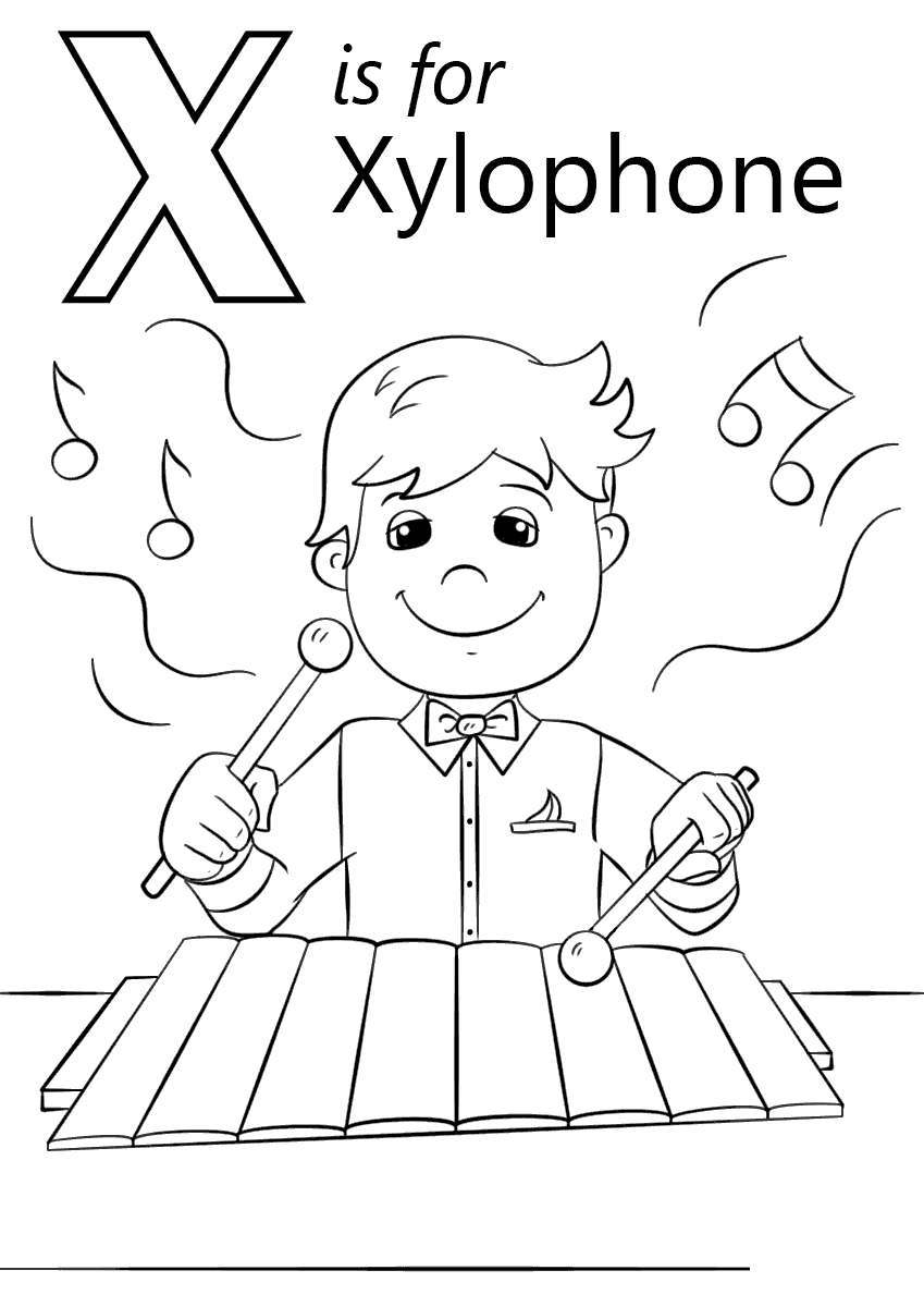 xylophone coloring pages letter x sketch free printable coloring pages. Black Bedroom Furniture Sets. Home Design Ideas