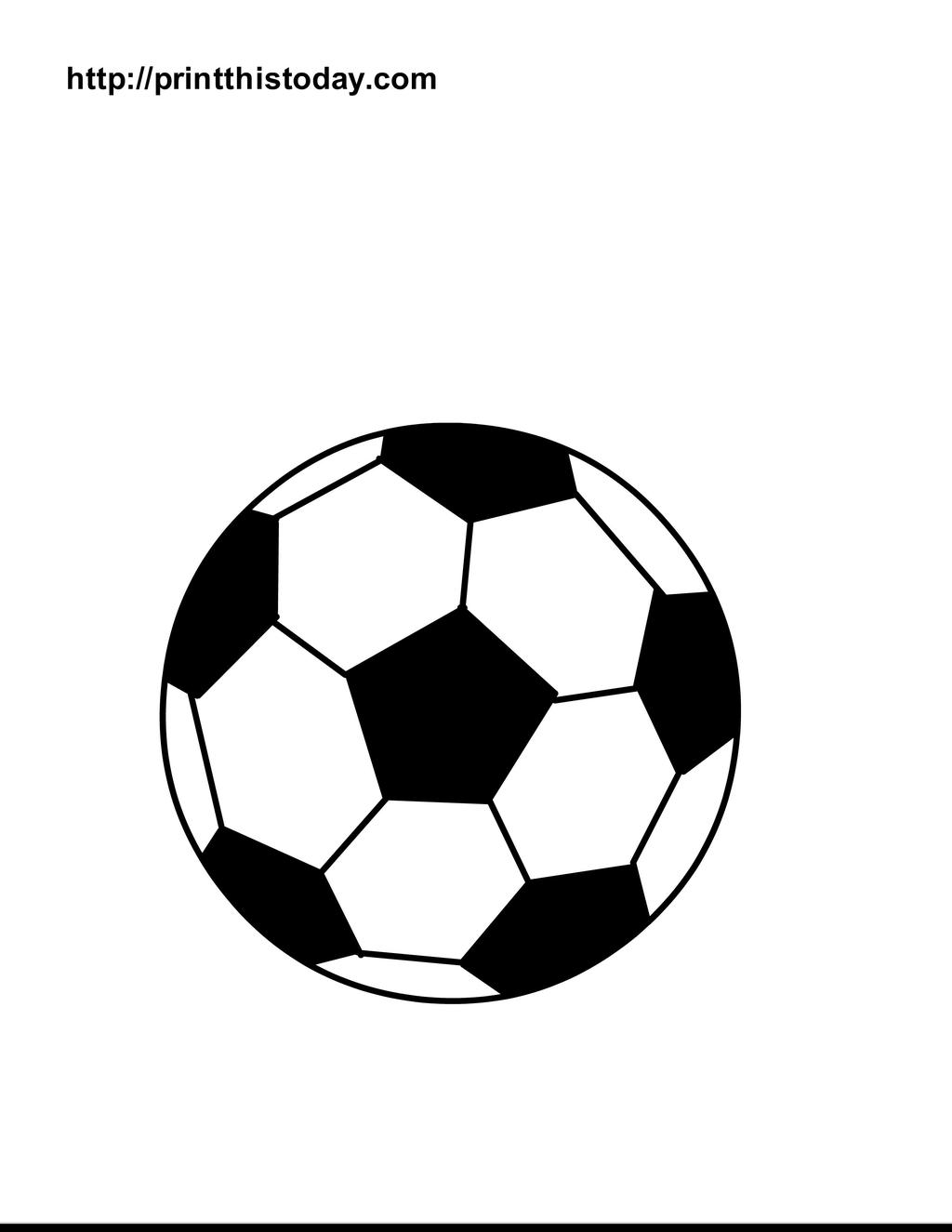 Blank Soccer Ball Coloring Pages Sports Lineart Free Printable