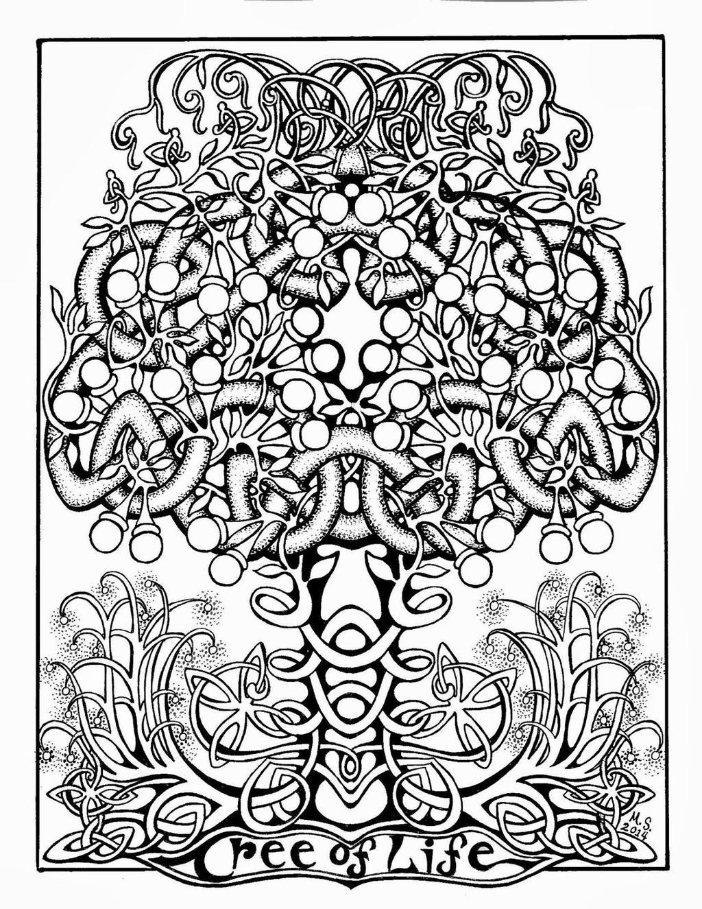 Book Kells Coloring Pages for Boys