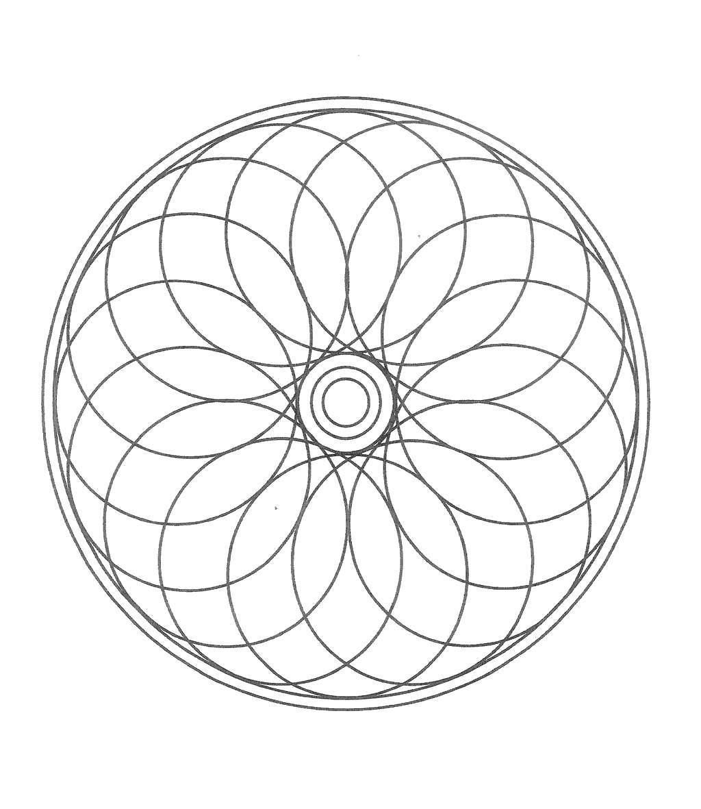 Chakra Coloring Pages Mandala Lineart