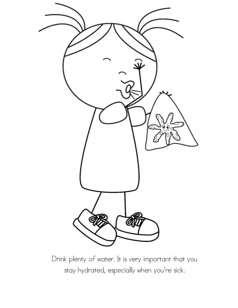 Free Clean Water Coloring Pages Kid Sick printable
