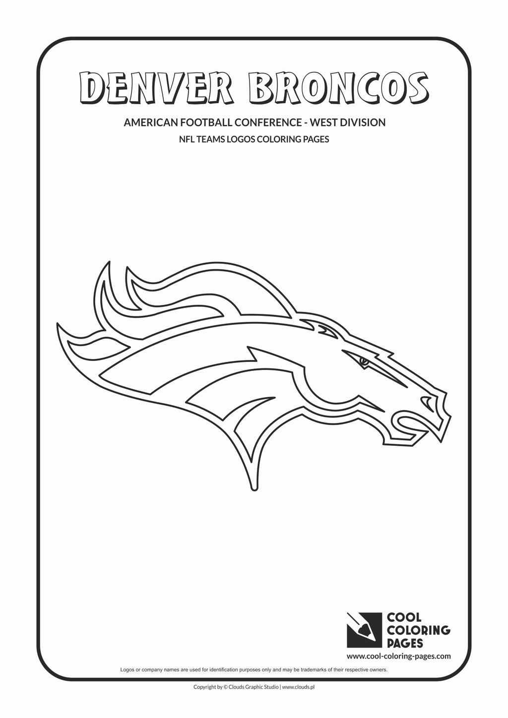 Denver Broncos Mascot Coloring Pages Lovely Football
