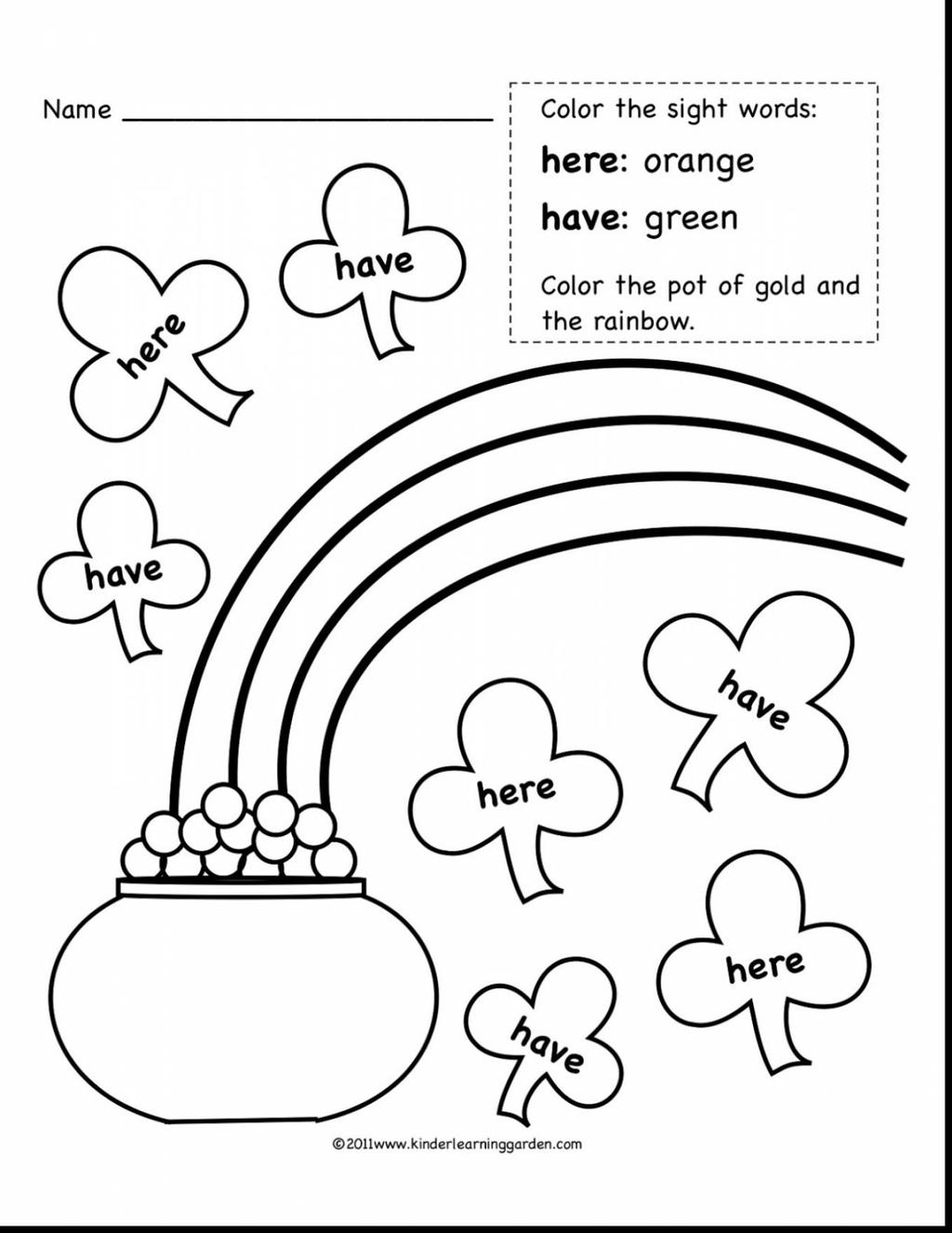 image relating to Free Printable Sight Word Books for First Grade named Very first Quality Sight Term Coloring Webpages Rainbow Phrases - No cost