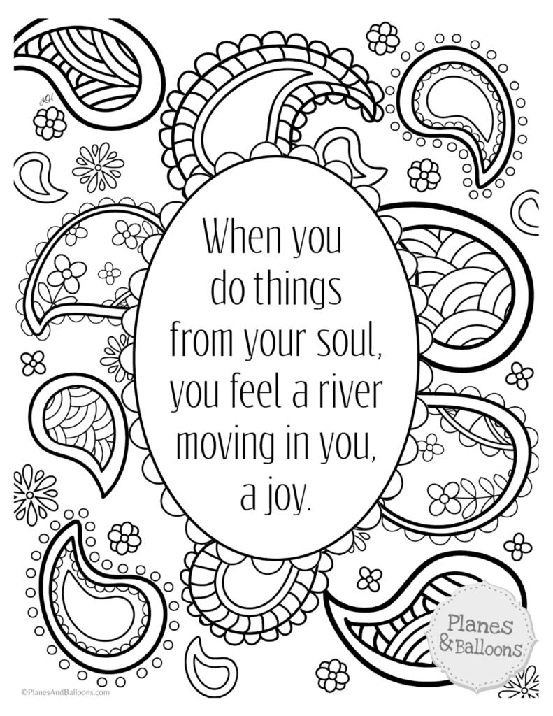 Inspirational Quotes Coloring Pages 59 For Adults Free Printable