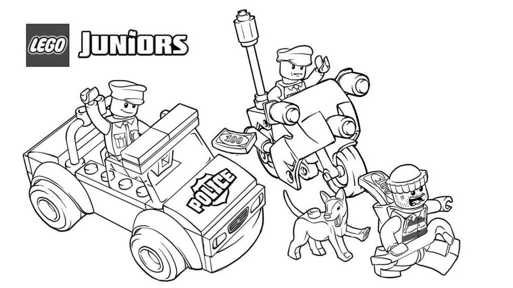 Free Lego Police Coloring Pages Chrsistmas for Kids printable