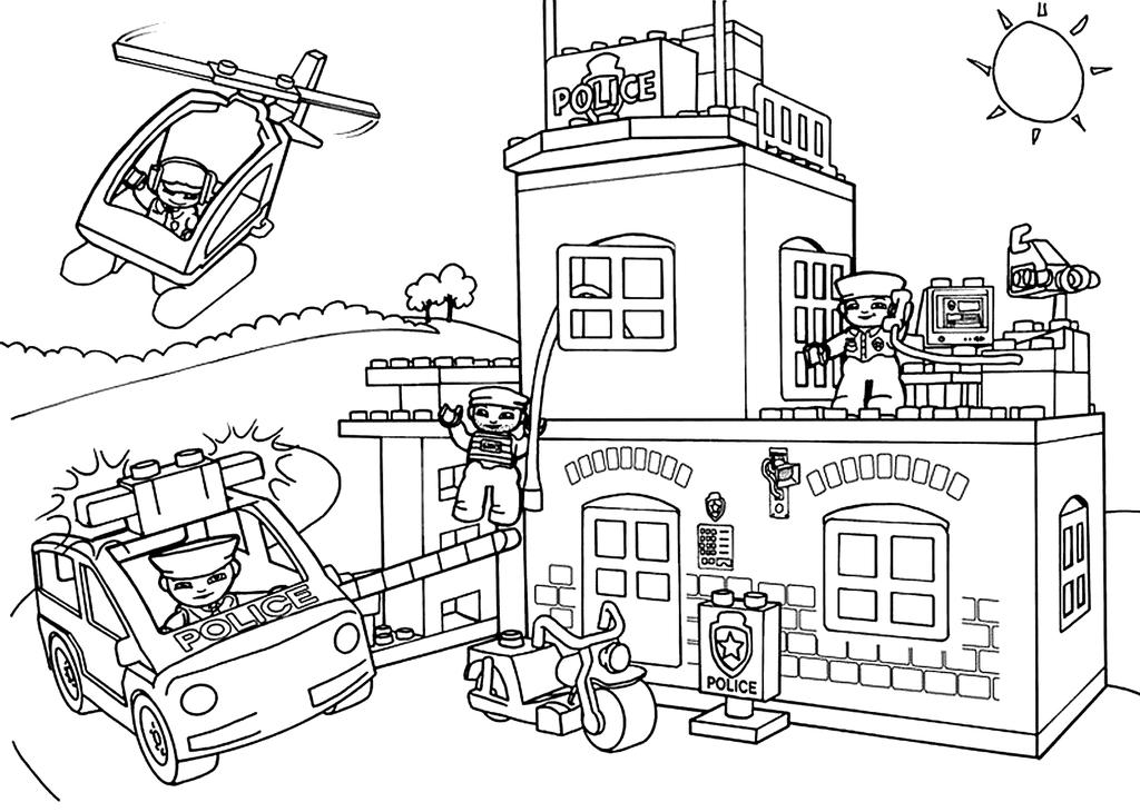 Free Lego Police Coloring Pages LEGO Class printable