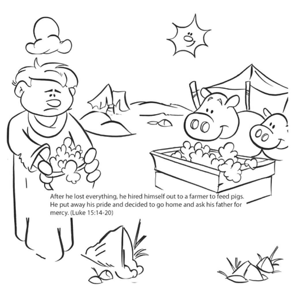 Lost Son Coloring Pages Prodigal Getings - Free Printable ...