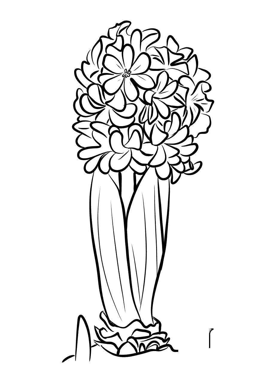 Macaw Coloring Pages Spring Flowers - Free Printable Coloring Pages