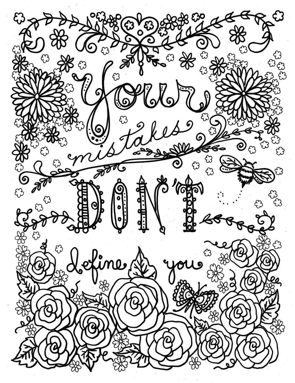Free Mandala Sayings Coloring Pages for Kids printable