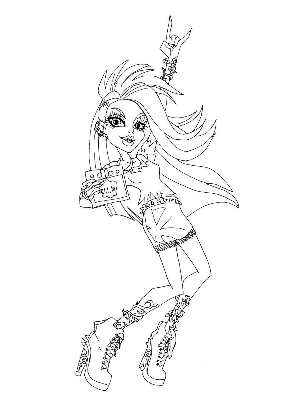 Monster High Venus Coloring Pages Characters Free Printable