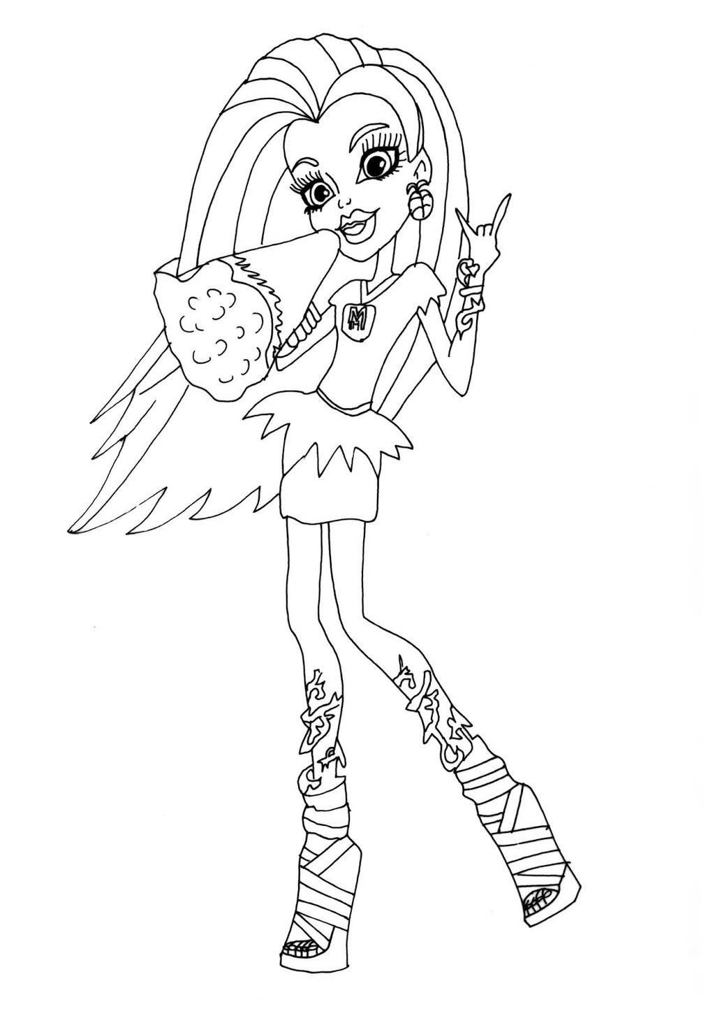 Monster High Venus Coloring Pages Coloring Sheets Free