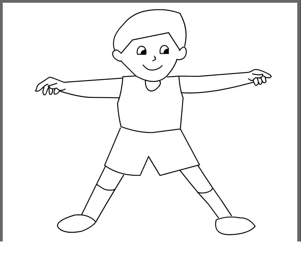 Coloring Pages Kids Parts Body