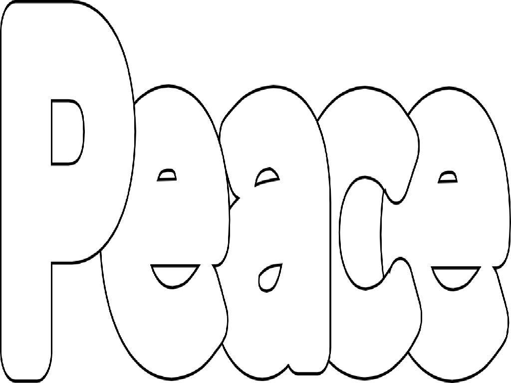 Peace Signs Coloring Pages COLORING PAGES