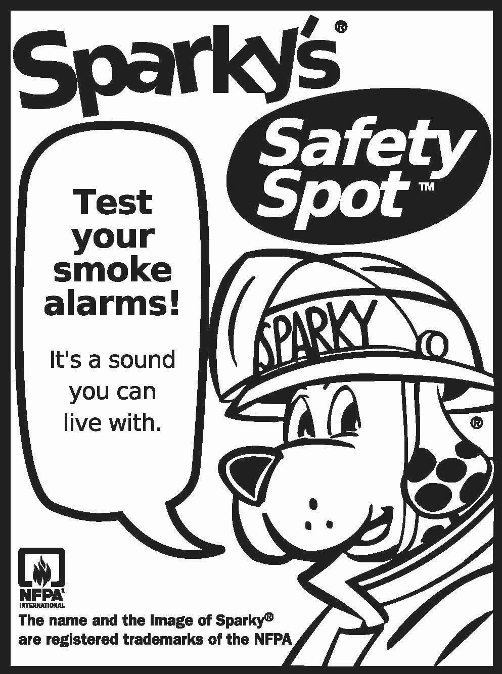 Free Printable Sparky The Fire Dog Coloring Pages Safety printable