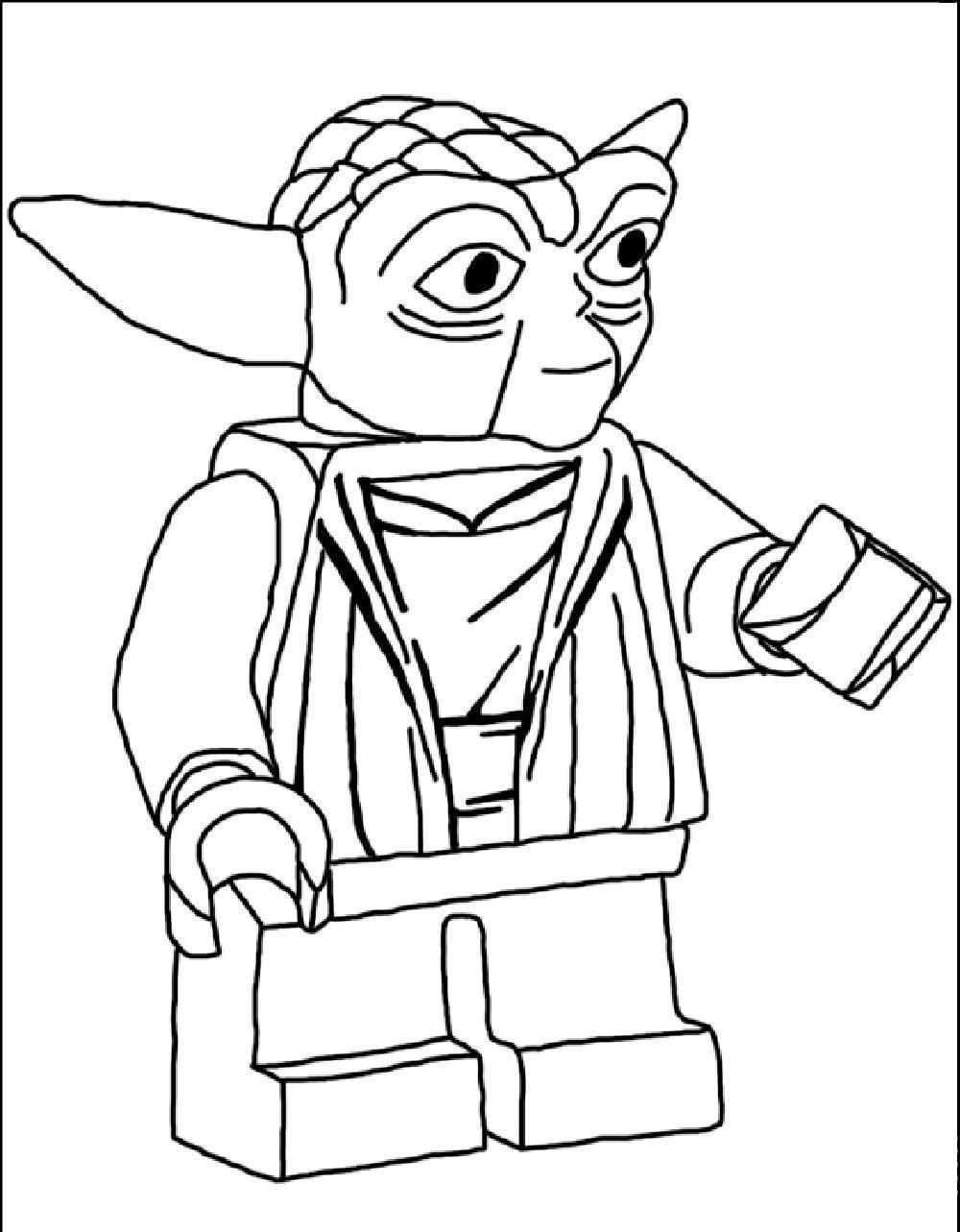 Printable Yoda Head Coloring Pages