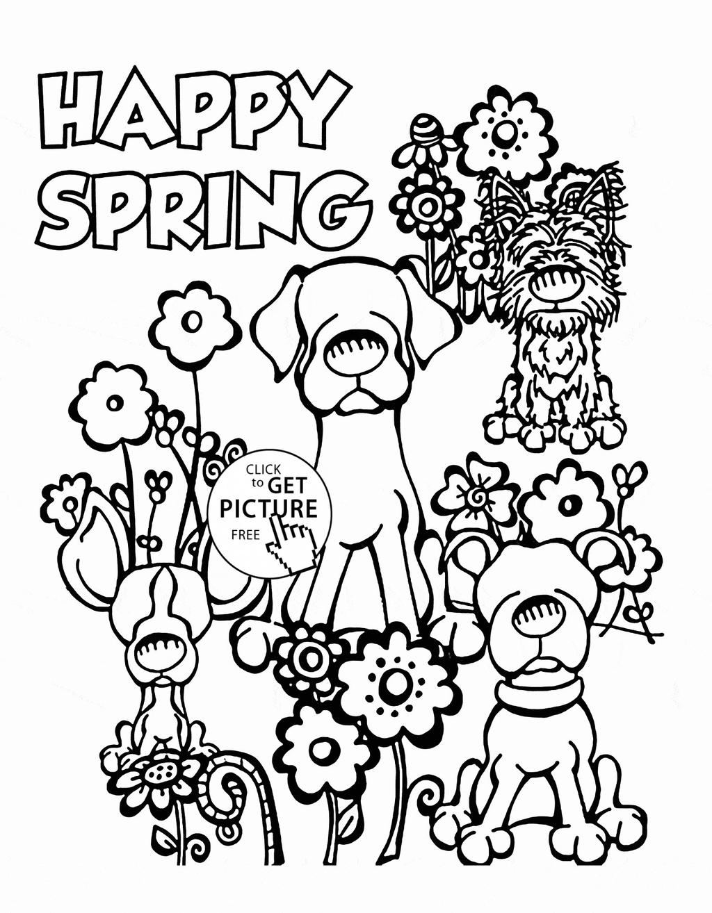Seasons Coloring Pages Dogs And Free Printable Coloring Pages