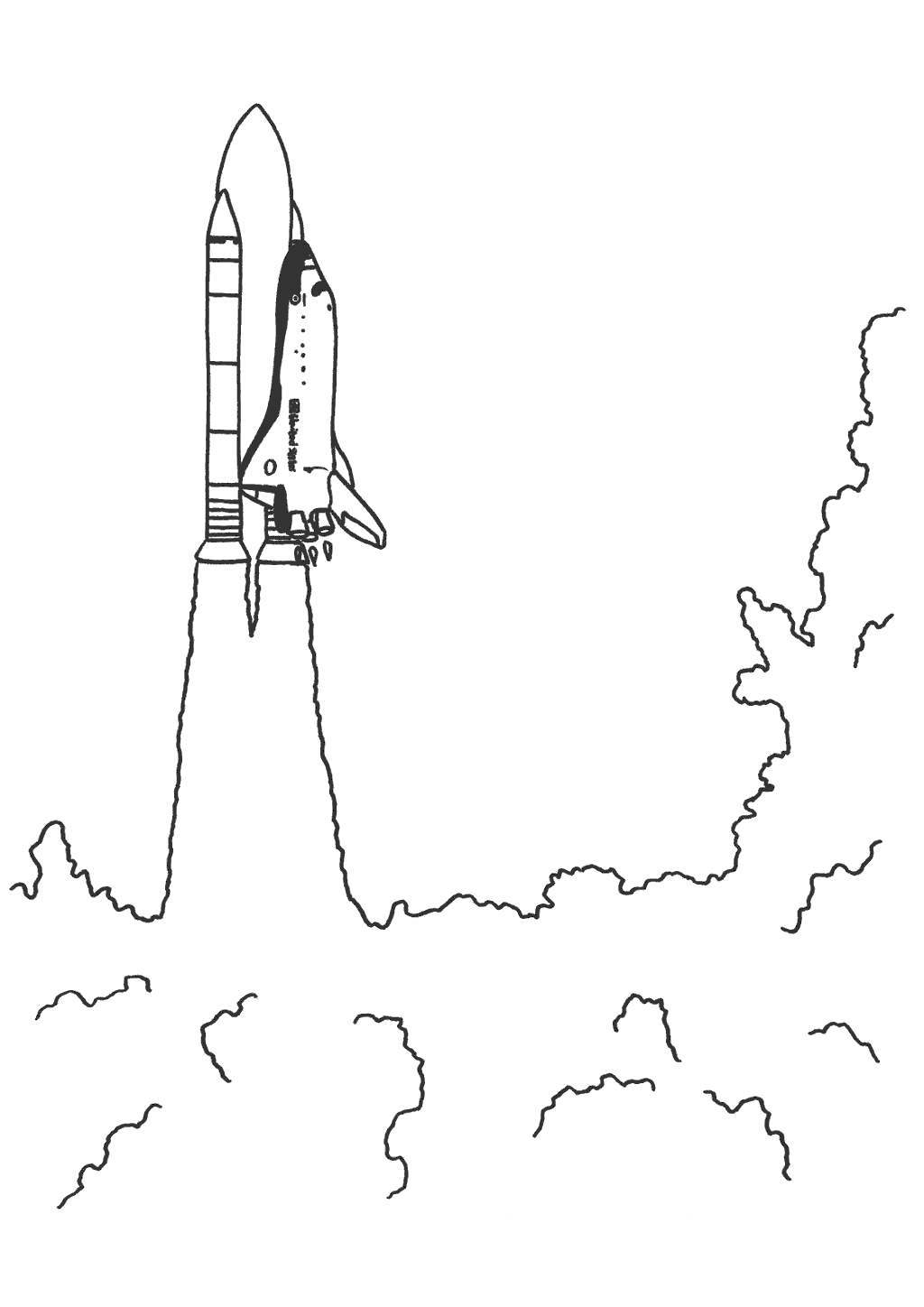 Shuttle coloring pages space letme