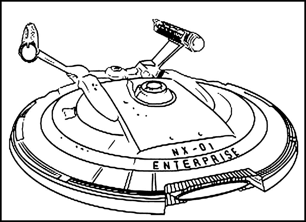 Shuttle Coloring Pages Space Ship