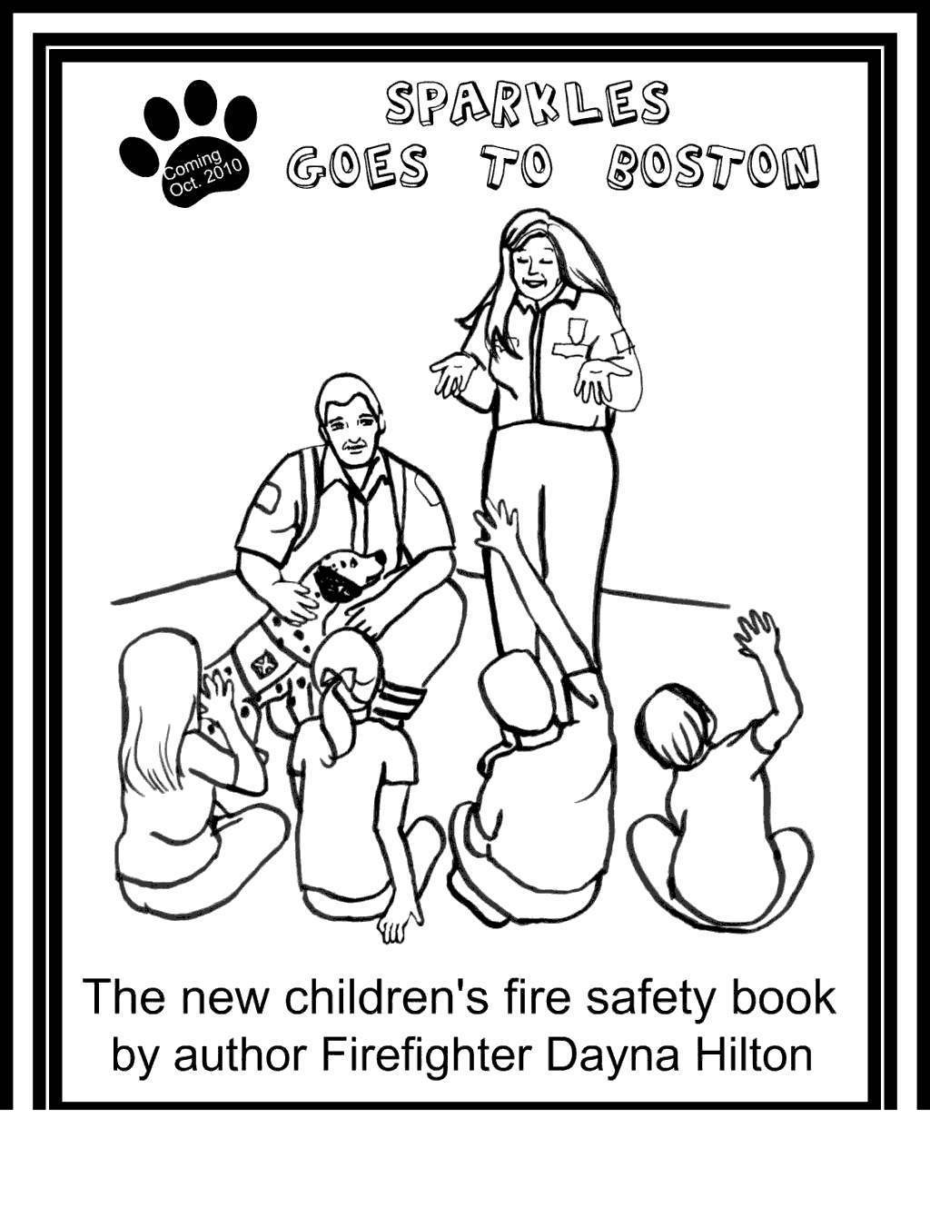 Free Sparky The Fire Dog Coloring Pages Better Safety printable
