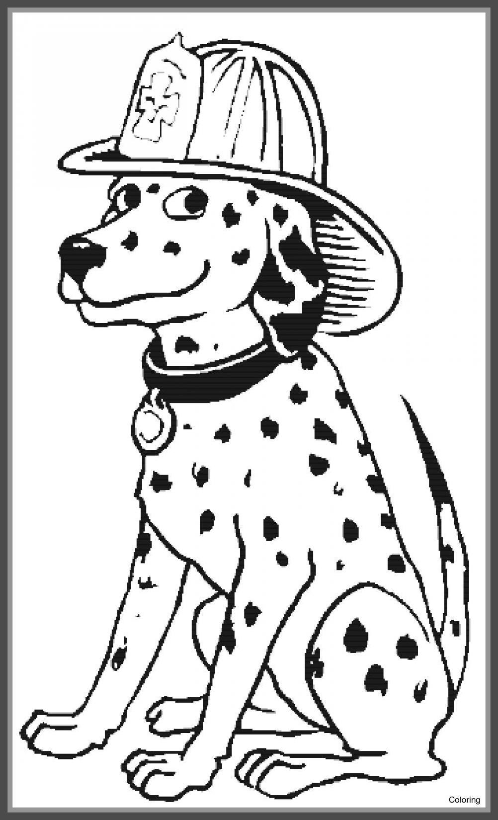 Free Sparky The Fire Dog Coloring Pages Fattkay Characters printable