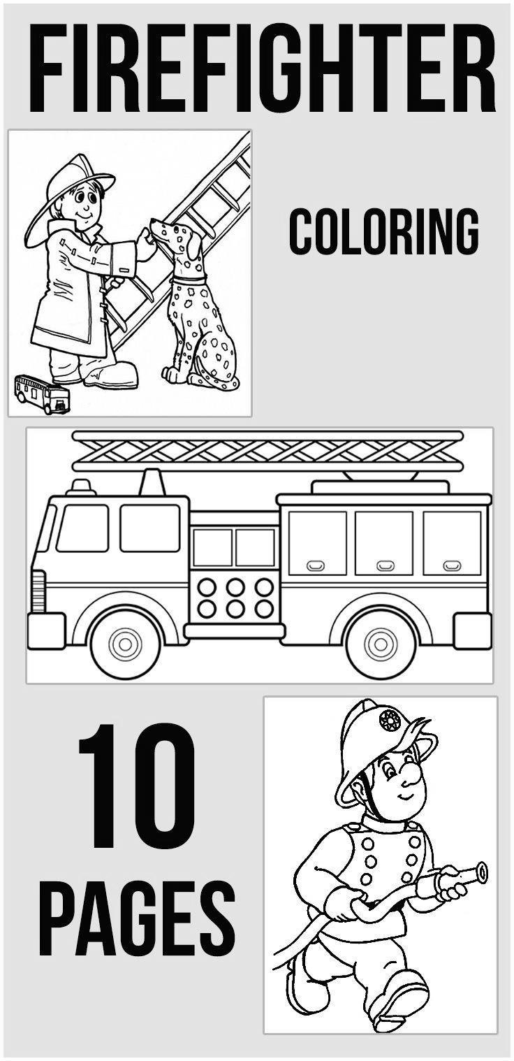Sparky The Fire Dog Coloring Pages Firefighter cutepuppies ...