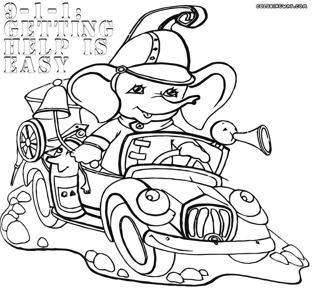 Sparky The Fire Dog Coloring Pages Safety And Free Printable
