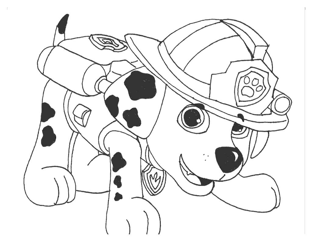 Free Sparky The Fire Dog Coloring Pages Safety Drawing printable