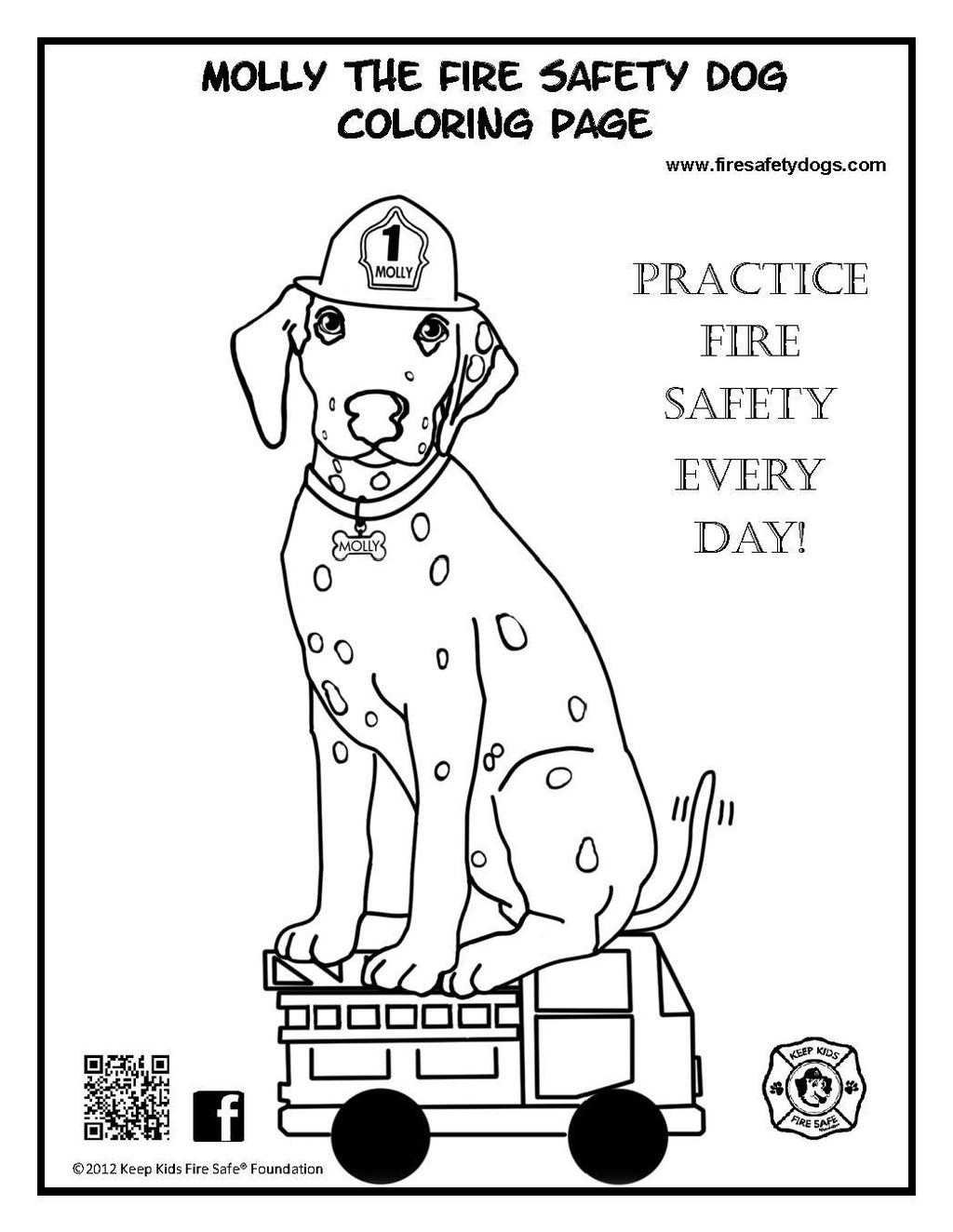 Sparky The Fire Dog Coloring Pages For Kids Free Printable