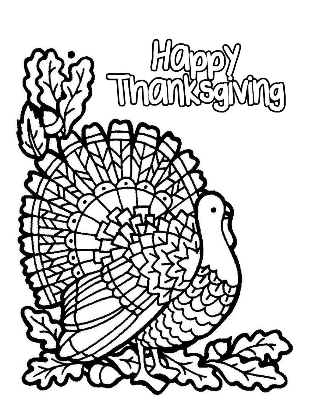 Thanksgiving Sunday School Coloring