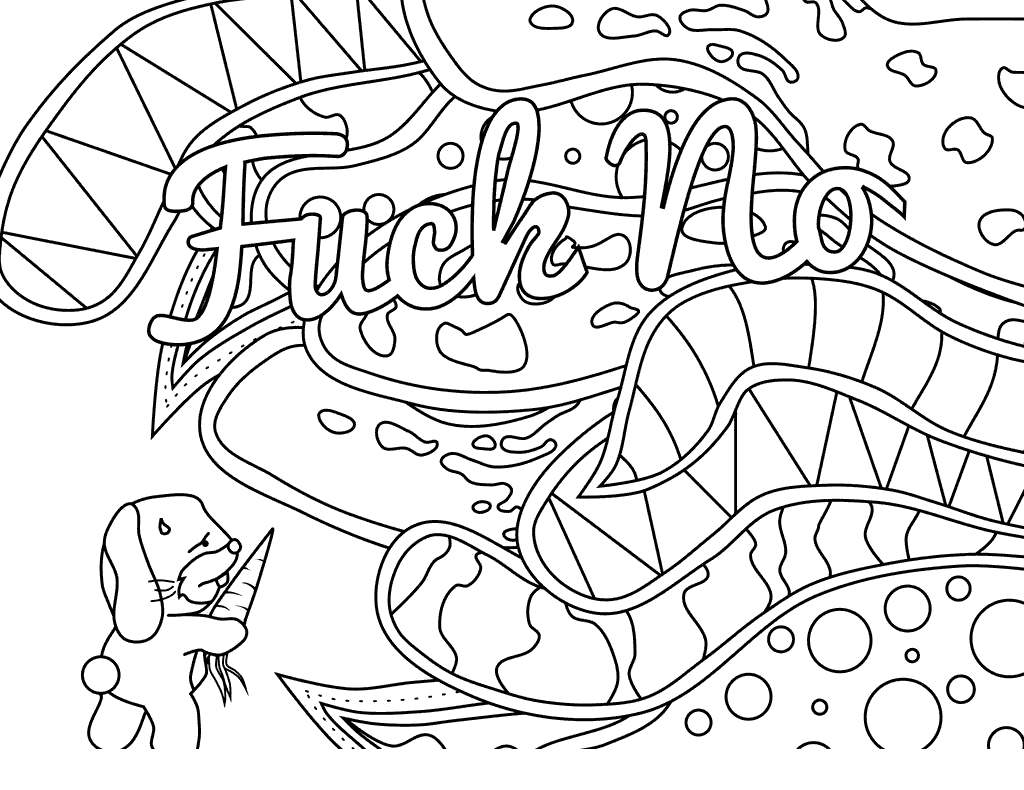Free Adults Cuss Words Coloring Pages Wanted ly printable