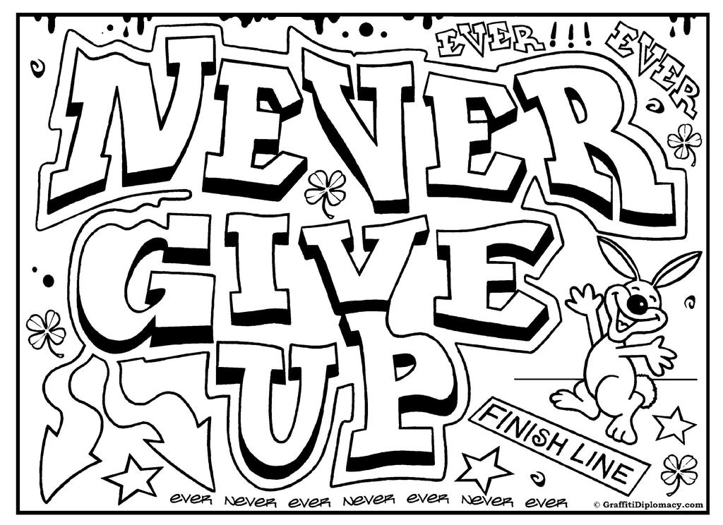 Anti Bullying Coloring Pages Graffiti for Boys - Free Printable ...