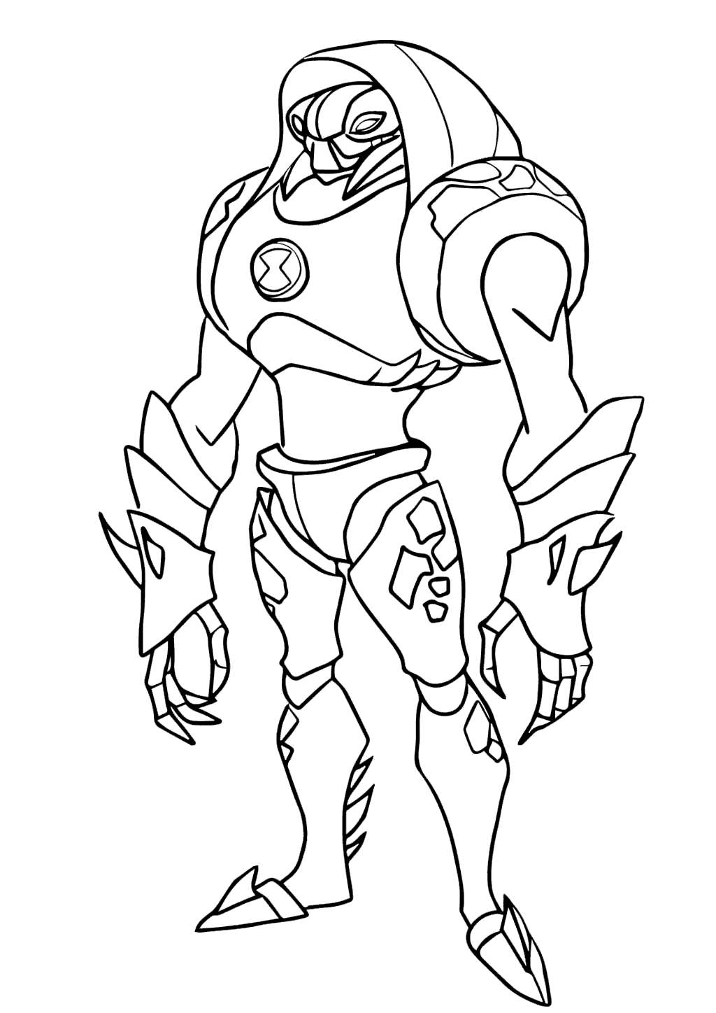 Ben 10 Omniverse Alien Coloring Pages Lineart - Free
