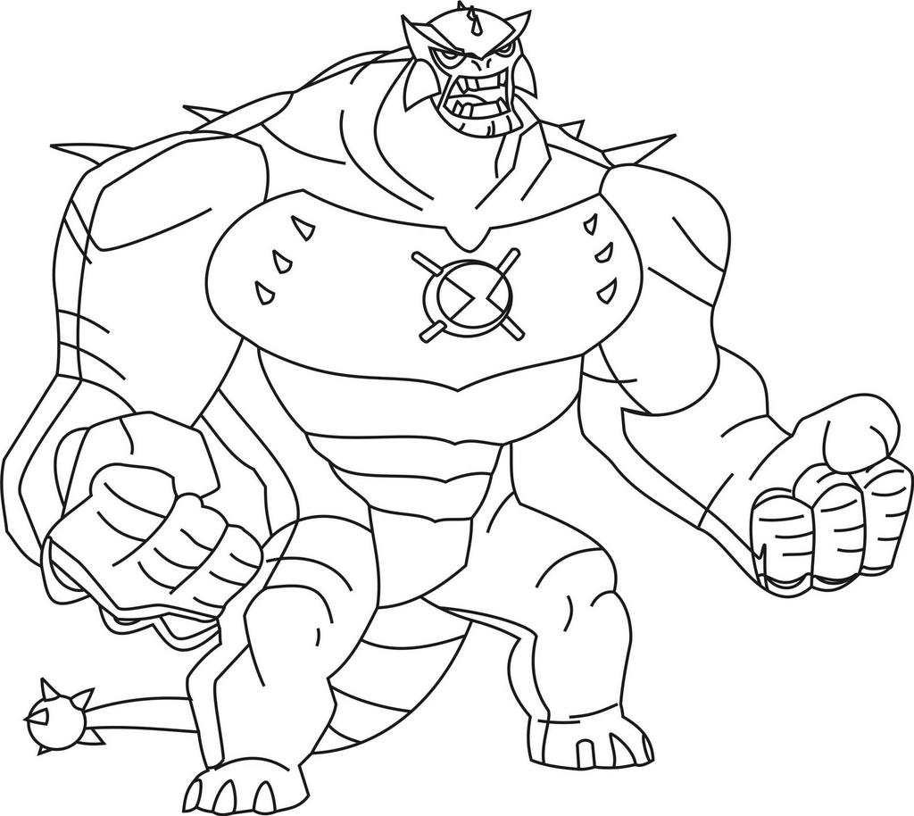 Ben 10 Omniverse Alien Coloring Pages Ultimate High - Free