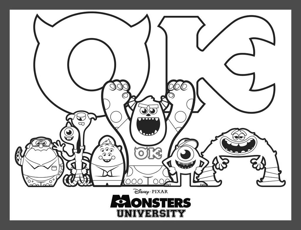 Beowulf Coloring Pages Monsters Inc - Free Printable ...