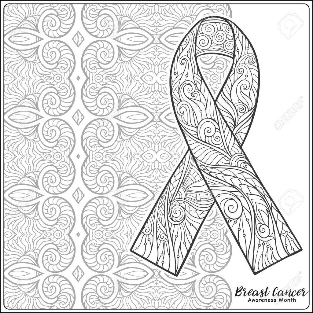 Breast Cancer Awareness Coloring Pages Clipart Free
