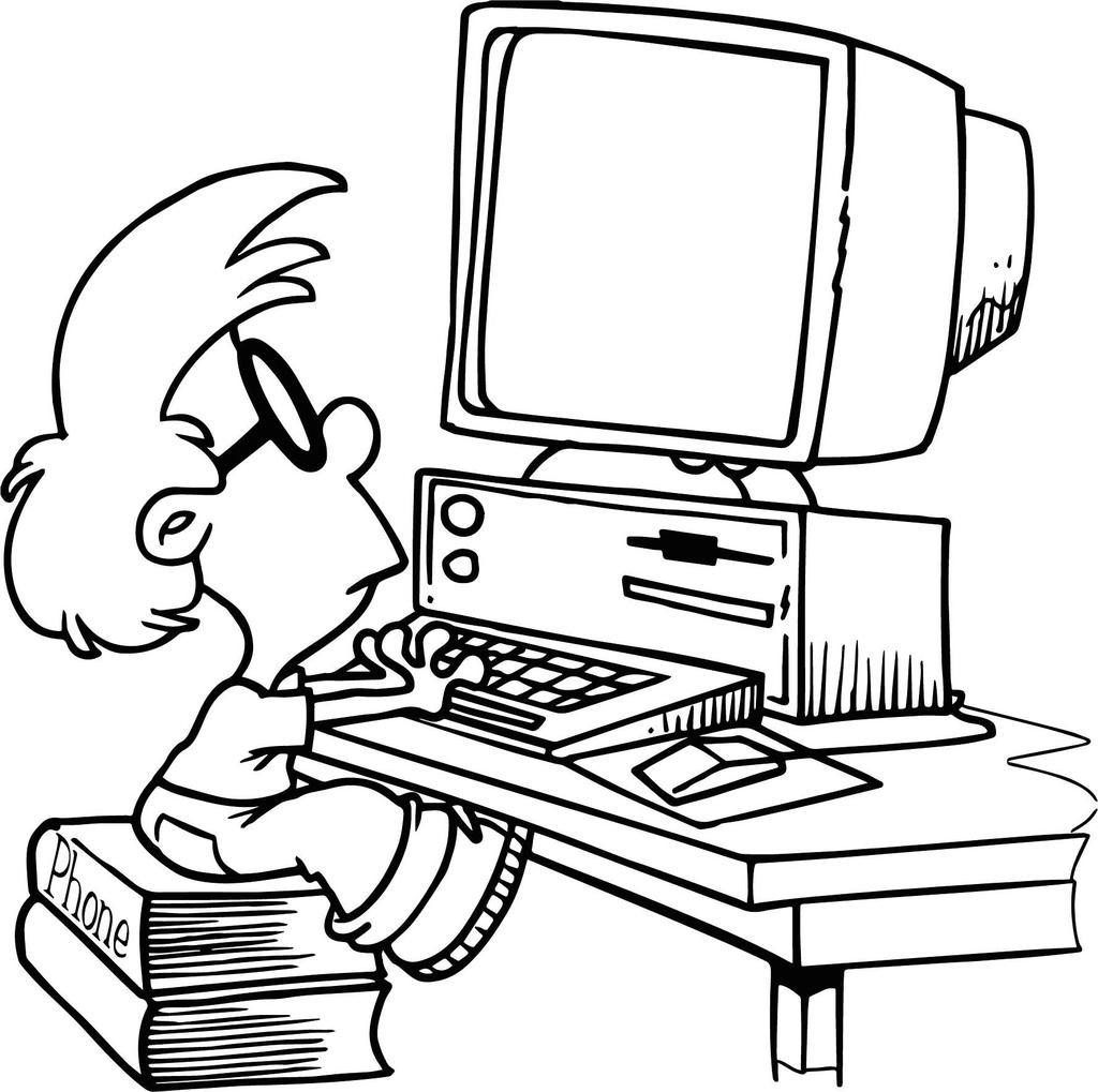 Computer Technology Coloring Pages