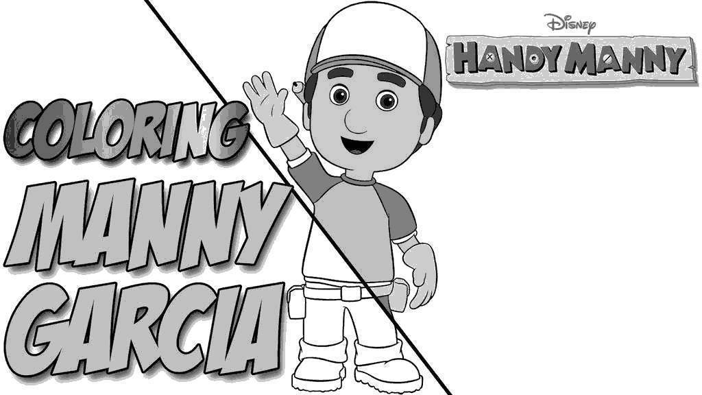 Free Handy Manny Coloring Pages How Disney printable
