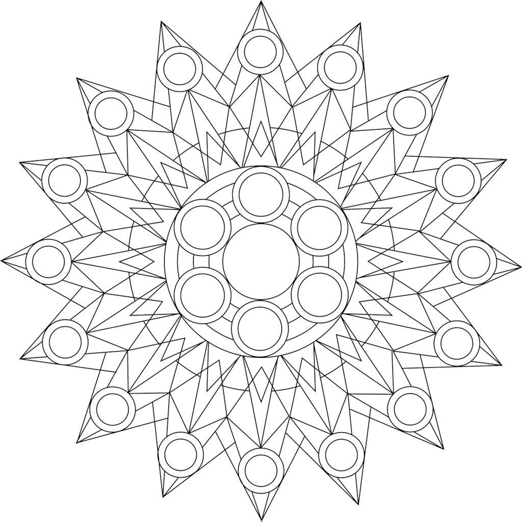 Free Kaleidoscope Coloring Pages A Mandala printable