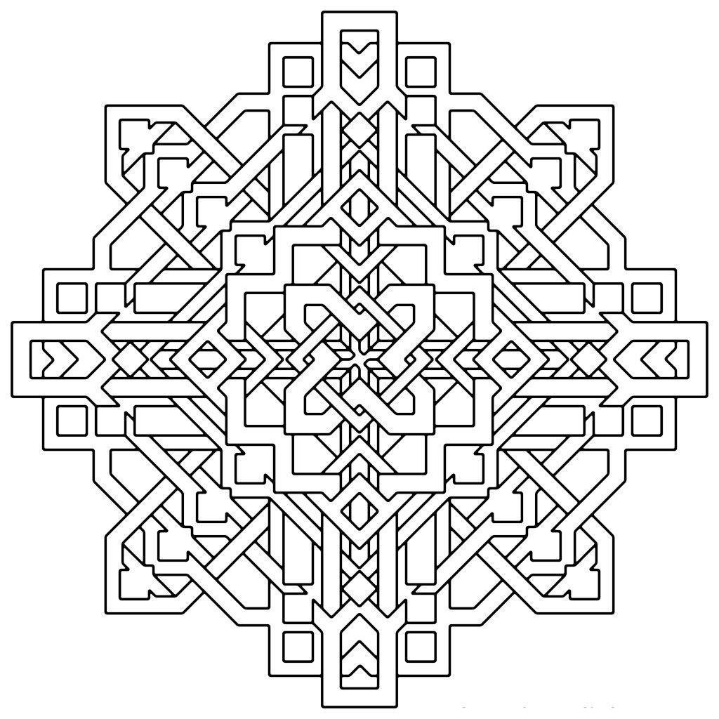 Free Kaleidoscope Coloring Pages Beautiful Optical printable
