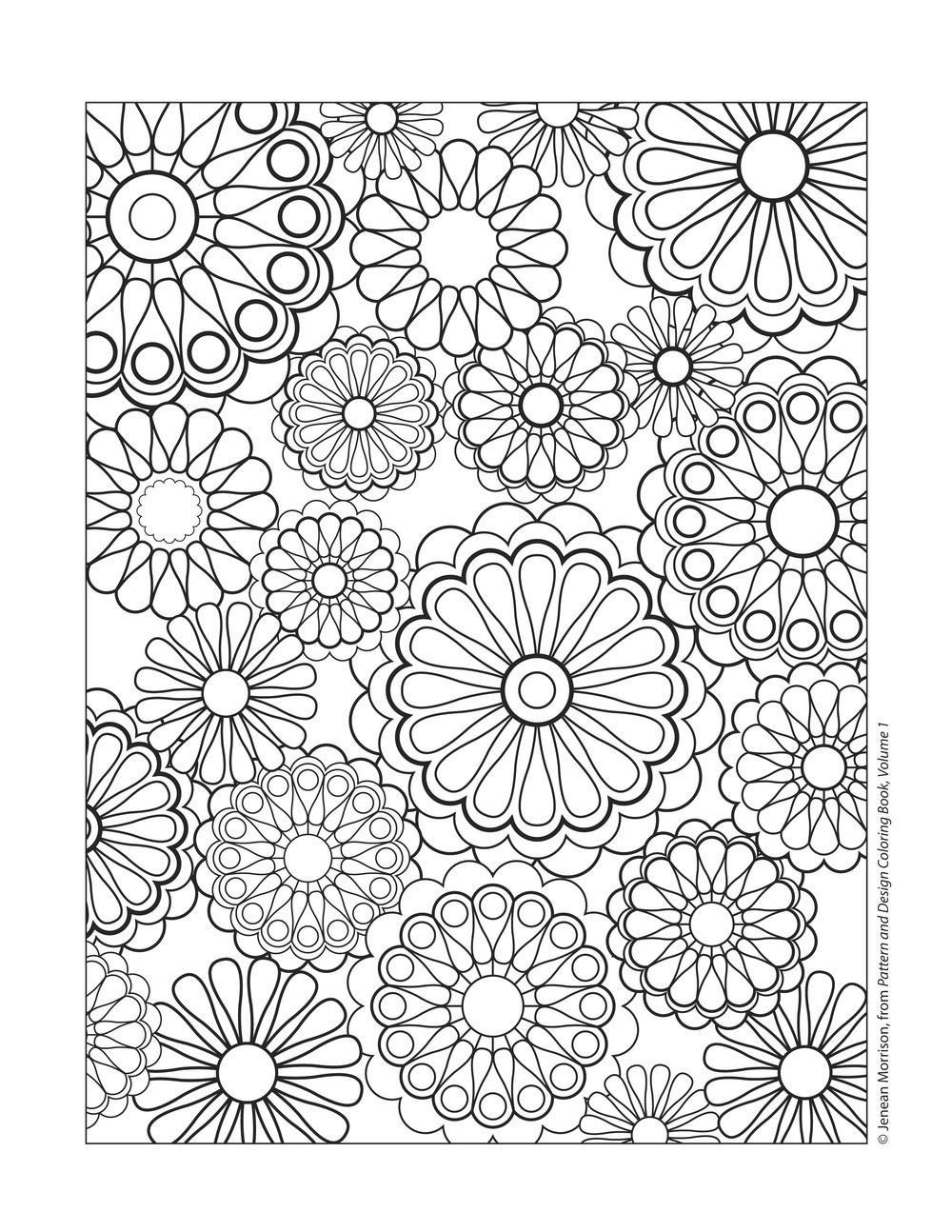 Free Kaleidoscope Coloring Pages Copy Line Drawing printable