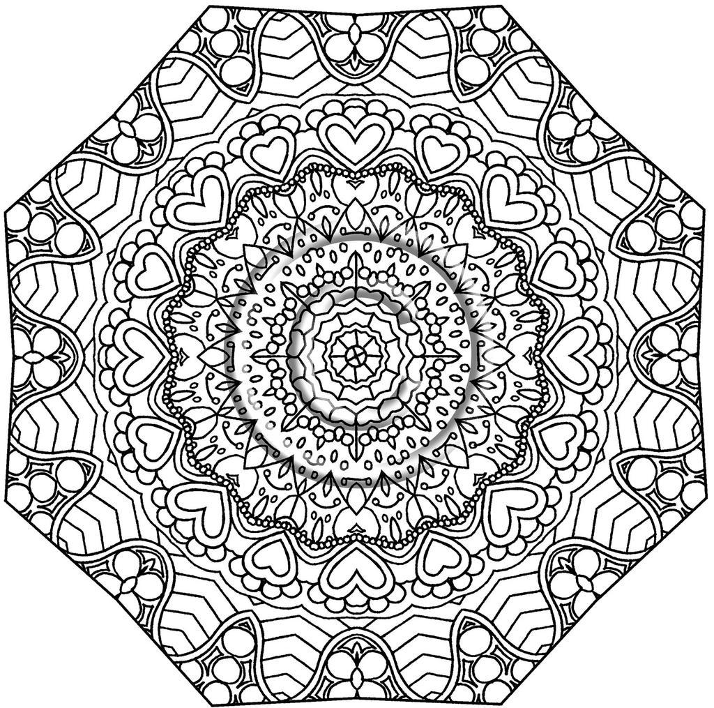 Free Kaleidoscope Coloring Pages Great In printable