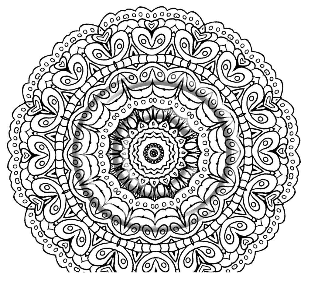 Free Kaleidoscope Coloring Pages Ribsvigyapan Wonders printable