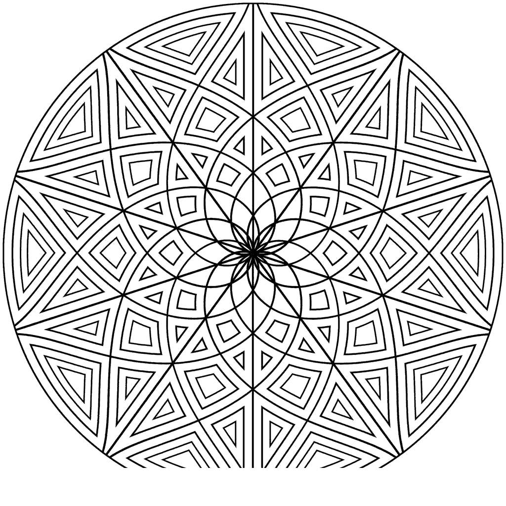 Free Kaleidoscope Coloring Pages Sheets for Kids printable
