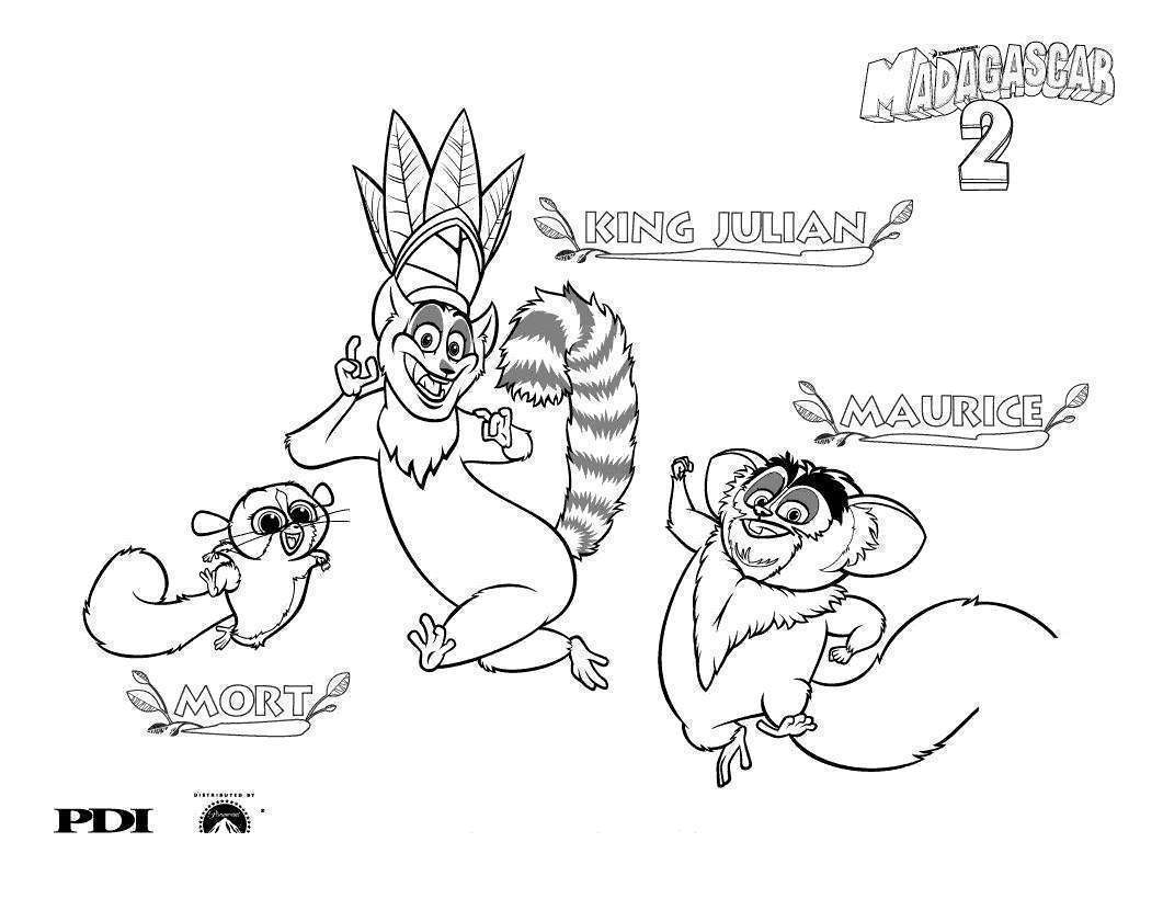 Lemur Coloring Pages Madagascar Mort - Free Printable